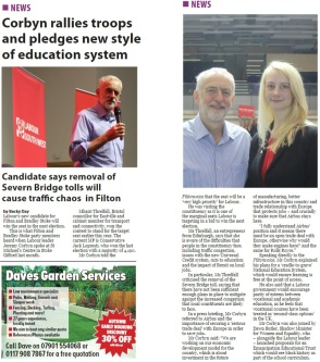 Corbyn rallies troops and pledges new style of education system - Filtonvoice November 2018