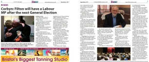 'Filton will have a Labour MP at the next General Election' - Corbyn - Filtonvoice September 2017
