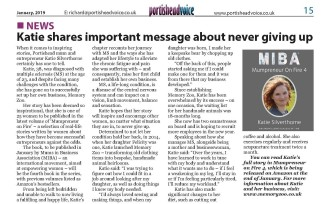Katie's important message about never giving up - Portisheadvoice January 2019