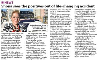 Shona sees the positives out of life-changing accident - Portisheadvoice February 2019
