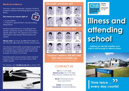 Illness and attending school leaflet - Orchard School Bristol