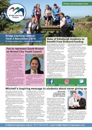 Bridge Learning Campus term 3 newsletter, pg. 1