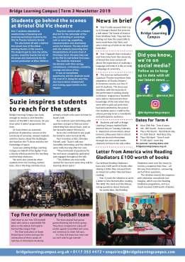 Bridge Learning Campus term 3 newsletter, pg. 2